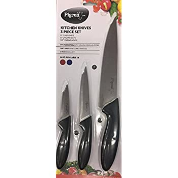 Pigeon Kitchen Knives Set, 3 Pieces, Multicolor
