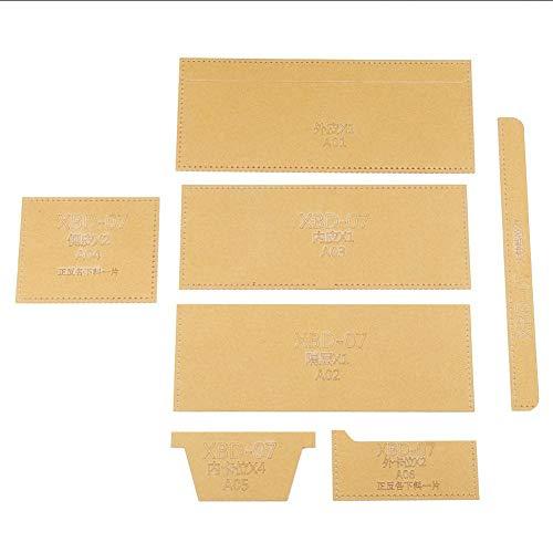 Acryl Brieftasche Vorlagen, Mini Transparent Acryl Geldbörse Zeichnung Schablone Vorlage Leder Hand Handwerk DIY Werkzeug