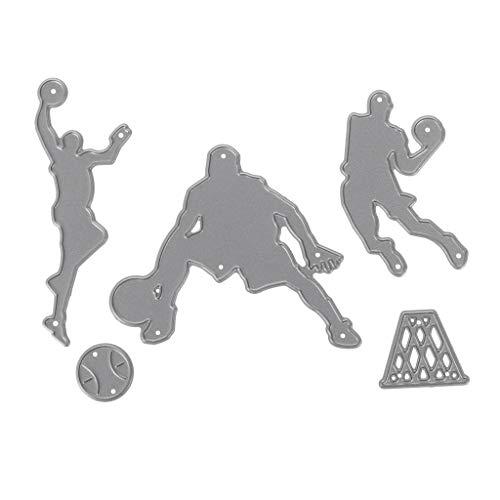 Bogji - Basketball Team Stanzformen Schablone DIY Scrapbooking Album Papier Kartenprägung stanzschablonen Scrapbook zubehör -