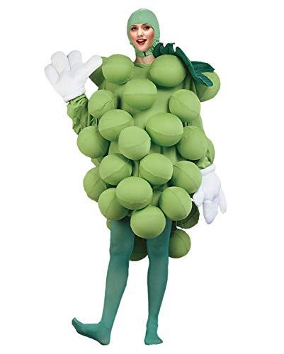 Weintraube Kostüm - Horror-Shop Lustiges grünes Weintrauben-Rebe Deluxe Kostüm mit Luftballons für Fasching