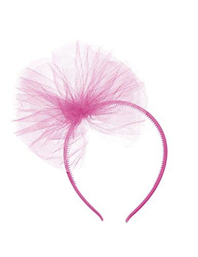 Haarreif mit Tüllschleife für Mädchen - hellrosa