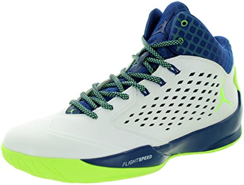 Jordan Jordan Zapatos de Baloncesto del Hombre 768931 102 Jordan DE Alta Rising Talla 42.5 Blanco/Azul/Verde  -