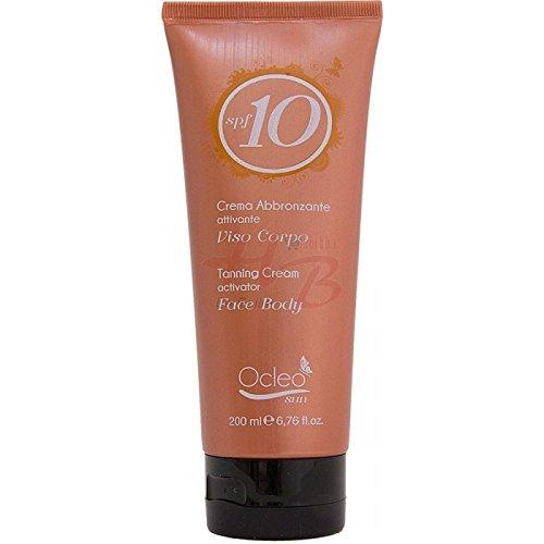 La meilleure crème abbronzante Protection SPF 10 visage corps Tanning Cream face body 200 ml