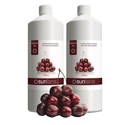 2000ml (2 x 1000ml) Suntana Cerise Medium 10% DHA Spray Tan Solution