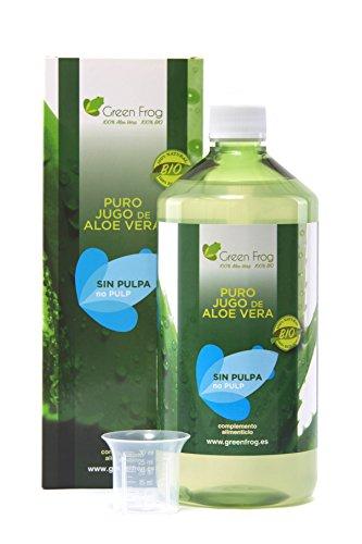 Green Frog. Jugo de Aloe Vera ecológico sin pulpa. 100% Fresco y Natural. 1L …