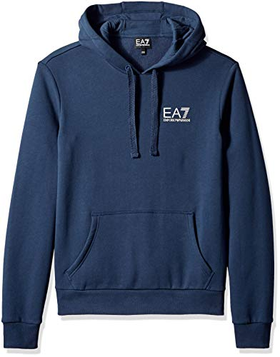 a6e4075af2096 Emporio Armani EA7 Men s Train Core ID Fleece Hoodie, Navy Blue, Medium