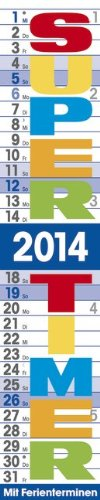 Streifenplaner Supertimer 2014: Mit Ferienterminen