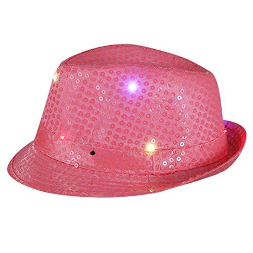 Yvelands Party Hut Blinklicht leuchten bunten Pailletten Unisex Kostüm Dance Party Cap