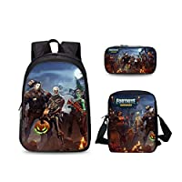 3PCS /set student Printed Game Fortnite Backpack School Bags For Girls and boys Travel Students nylon School Shoulder Bag Backpack Causal Laptop Bag