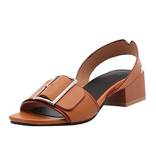 OrchidAmor Sommer Damen Sandalen High Heel Sandalen Fashion Römische Sandalen Wild Damen Schuhe 2019, Braun (braun), 38 EU Bandolino High Heels