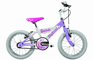 Sunbeam Flutter Girl's Bike -White/Mauve, 16-Inch