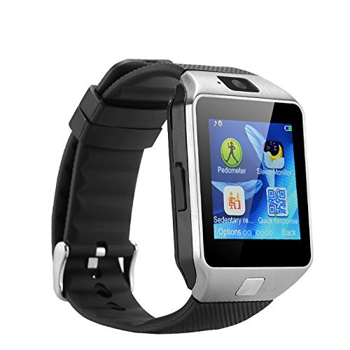 MVE(TM) SW-M9 (SILVER) Bluetooth Smart Watch Phone With Camera and Sim Card Support With Apps like Facebook and WhatsApp Touch Screen Multilanguage Android/IOS Mobile Phone Wrist Watch Phone with activity trackers and fitness band features compatible with Samsung IPhone HTC Moto Intex Vivo Mi One Plus and many others! Launch Offer!!