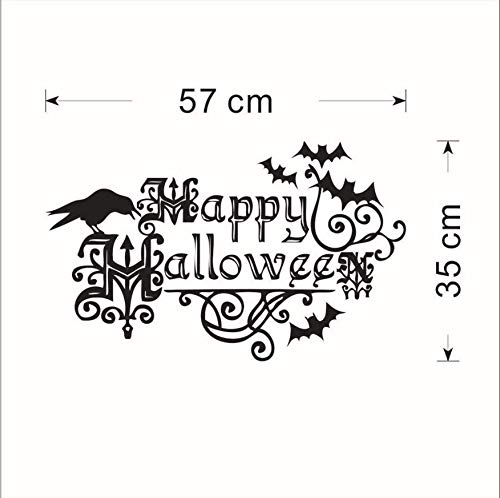 LONGTENGHEIHA Happy Halloween Home Haushalt Zimmer Wandaufkleber Dekor Abziehbild Abnehmbare Heiße DIY Wandkunst Aufkleber Dekoration Mode ()