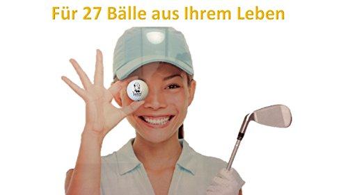 Golfball-Vitrine für 24 Golfbälle, schwarz - Golf-ball Vitrine