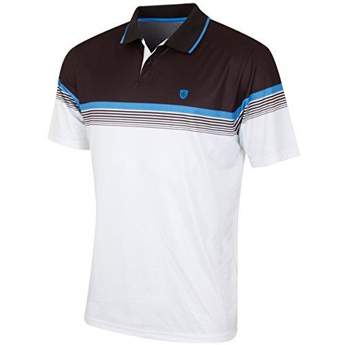 Insel grün Herren igts1638Große Polo Shirt, Schwarz/Maritim blau, L