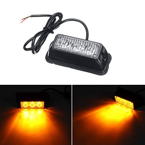 WCHAOEN 12V-24V 3 LED Auto LKW Notlicht Bar Hazard Strobe Warnsignal Amber Light Ersatzteile