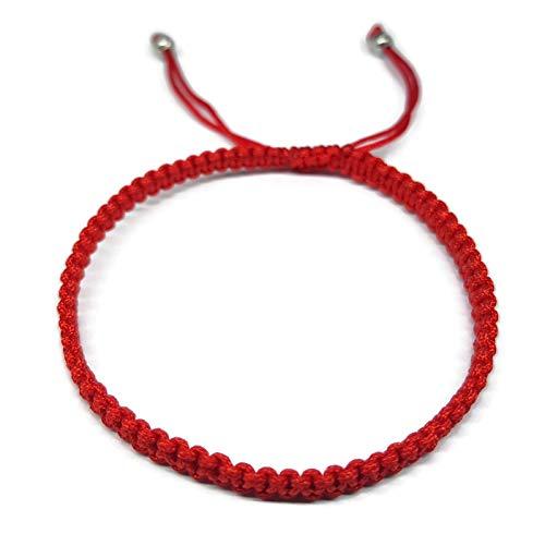 Mystic Jewels - Pulsera Kabbalah de Hilo Rojo, Amuleto, protección Mal de Ojo, Buena Suerte, Good Luck