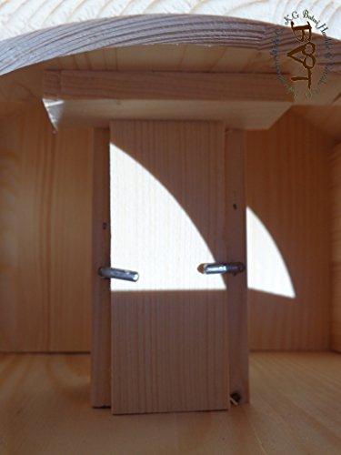 Vogelhaus XXL, vogelhäuschen BTV-VONI5-LOTUS-LEFA-moos001 NEU MASSIVES GANZJAHRES PREMIUM Vogelhaus mit wasserabweisender LOTUS-BESCHICHTUNG + NISTKASTEN IN EINEM (VOLL FUNKTIONSFÄHIG mit Reinigungsvorrichtung), Qualität Schreinerware 100% Massivholz – VOGELFUTTERHAUS MIT FUTTERSCHACHT-Futtersilo Futterstation Farbe grün moosgrün lindgrün natur/grün, Ausführung Naturholz MIT TIEFEM WETTERSCHUTZ-DACH für trockenes Futter - 5