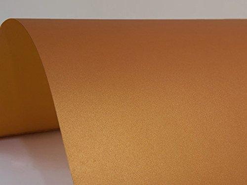 10 x Blatt Perlmutt-Orange 125g Papier DIN A4 210x297mm, Sirio Pearl Orange Glow, ideal für Hochzeit, Geburtstag, Weihnachten, Einladungen, Diplome, Grußkarten, Scrapbooking, Kunst und Handwerk (Glow Geburtstag Einladungen)