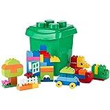 Ultrakidz Bausteine Set mit 66 Steckbausteinen, Steckstein Mix aus klassischen Bauklötzen in bunten Farben und Sondersteinen –in praktischer Aufbewahrungsbox mit Deckel, passend für Lego Duplo