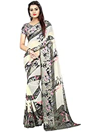 High Glitz Fashion Georgette Saree With Blouse Piece (HGF1246 A1_Multi-Coloured_Free Size)
