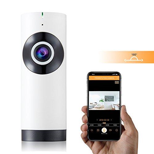 Sunhel WLAN Wireless Netzwerk Mini IP Nachtsicht Kamera Sicherheitsüberwachung Kameras Home IP Monitor 720P HD 180 Grad Panorama WiFi Kamera