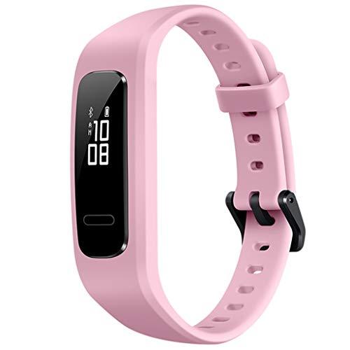Fitness Armbanduhr mit Herzfrequenzmesser/Dorical Schlafmonitor Aktivitätstracker Wasserdicht Sport Tracker Schrittzähler mit Pulsmesser Kalorienzähler Armband Uhrr für Kinder Damen Herren(Rosa)