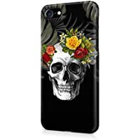 Rose Floral Death Skull Tropical Jungle Apple iPhone 7 SnapOn Hard Plastic Phone Protective Case Cover