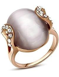 Opal anillo del ojo del oro 18K plateado con la piedra preciosa de la joyería de la vendimia del gato Yoursfs