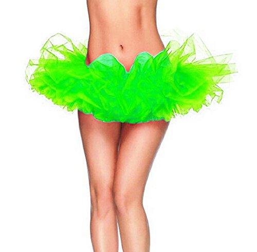 GTKC Donne Eseguire La Danza Abito Da Principessa Sottogonna Tutu Soffici Balletto Gonna Verde