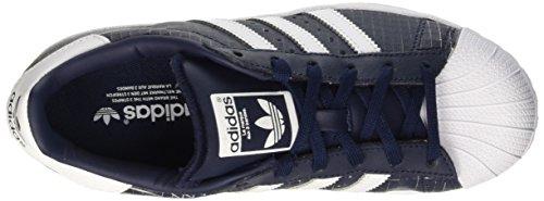 adidas Superstar, Baskets Basses Mixte Adulte Blu (Conavy/Ftwwht/Conavy)
