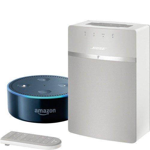 Bose SoundTouch 10 kabelloses Music System weiß und Echo Dot (2. Generation)  schwarz