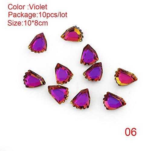 10pcs/bag 3D Cat Claw null Kristall Flacher Rücken Dekor für Nagelkunst null Maniküre DIY(06)