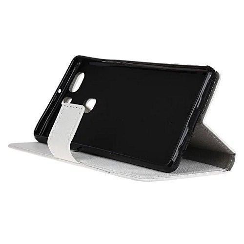 Solid Color Kas Textur Muster Leder Schutzhülle Case Horizontal Flip Stand Case mit Kartennuten für Huawei P9 PLUS ( Color : Blue , Size : Huawei P9 PLUS ) White
