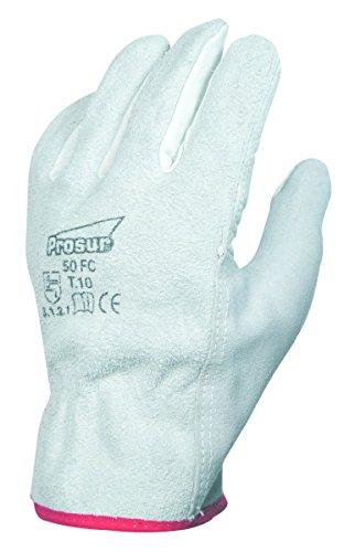 Singer Paire de gants paume fleur de bovin. Dos croûte. Coloris naturel 50FC Taille 9