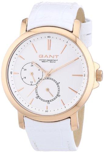 GANT W70482 - Reloj analógico de cuarzo para mujer, correa de cuero color blanco