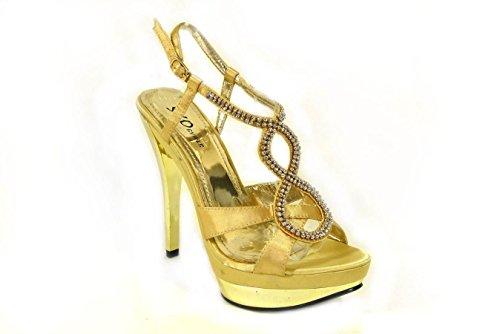 SKO'S , Bride de cheville femme Gold (31050-8)