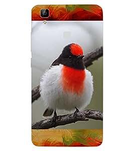 ColourCraft Rare Bird Design Back Case Cover for VIVO V3 MAX
