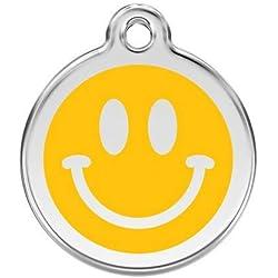 Red Dingo Médaille pour Chien Smiley Jaune 20 mm