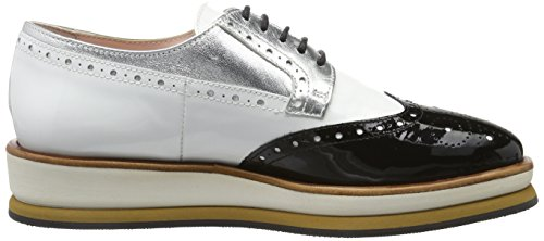 Marc Cain - Gb Sc.08 L35, Scarpe basse Donna Schwarz (Black And White)