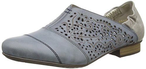 Rieker - 51957 Women Loafers, Mocassini Donna Blu (Blau (azur/staub / 12))