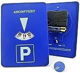 Mitlaufende Parkscheibe Automatische mitdrehende Parkuhr mit Zeiger Elektronische Uhrwerk im Bundle mit einem Clip-Chip Einkaufswagenchip