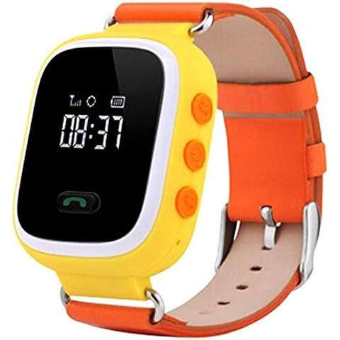 Nueva anti-lost GPS localizar Monitor niños reloj inteligente teléfono para Android IOS, color