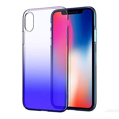 Für iPhone XS Max Stoßfest Serie Pc + TPU Stoßschutzhülle Ultra Thin Hart Pc Spiegel Bunte Abdeckung Sonnenbrille Fall Geeignet Für Männer Und Frauen (Blue)