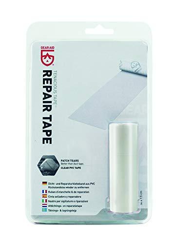 McNett Tenacious Tape - Nastro adesivo riparatore per tessuti e cuciture, Trasparente (trasparente), 50 x 7,5 cm