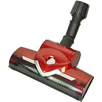 LeaBen® - Bocchetta turbo universale con spazzola rotante per aspirapolvere AEG, Bosch, Siemens, Miele, collettore di aspirazione 30 - 37 mm, colore: Rosso