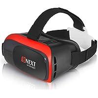Gafas VR Compatible con iPhone y Android, Gafas Realidad Virtual para Movil - Disfruta de los Mejores Juegos y Videos RV, 360 y 3D, de Máxima Calidad y con la Mayor Comodidad (Red)