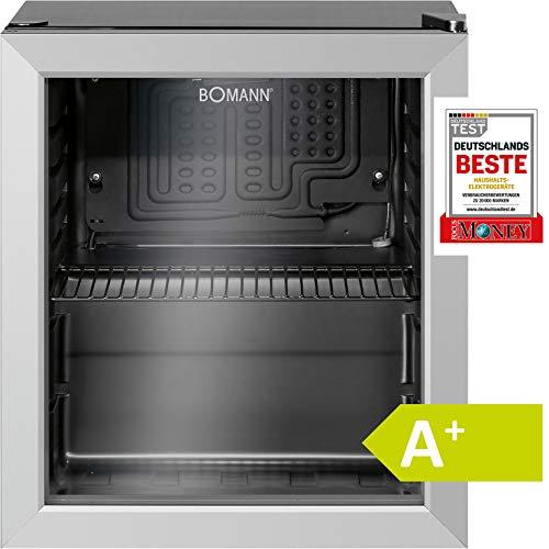 Bomann KSG 237.1 Kühlschrank für Getränke, freistehend, 32 Flaschen, 133 Dosen, A+, 1 Einlegeboden, Türanschlag rechts