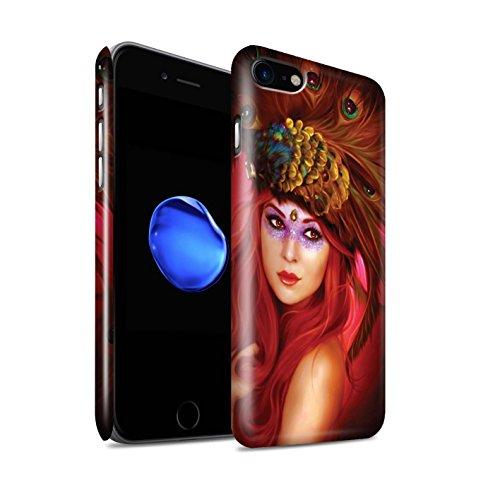 Officiel Elena Dudina Coque / Clipser Brillant Etui pour Apple iPhone 8 / Coucher Soleil Design / Les Oiseaux Collection Beau Paon
