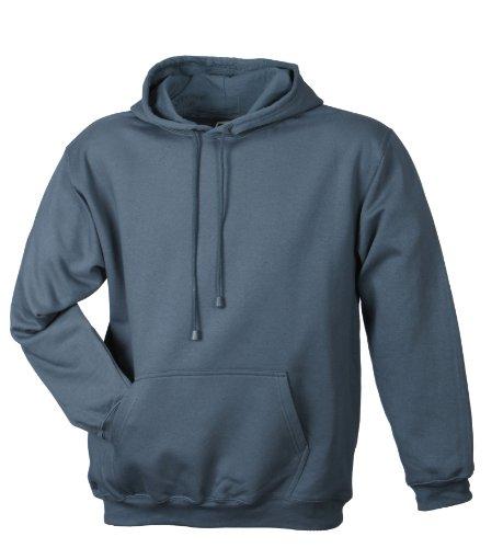 James & Nicholson Herren Hooded Sweat Sweatshirt, Grau (Carbon), XX-Large -